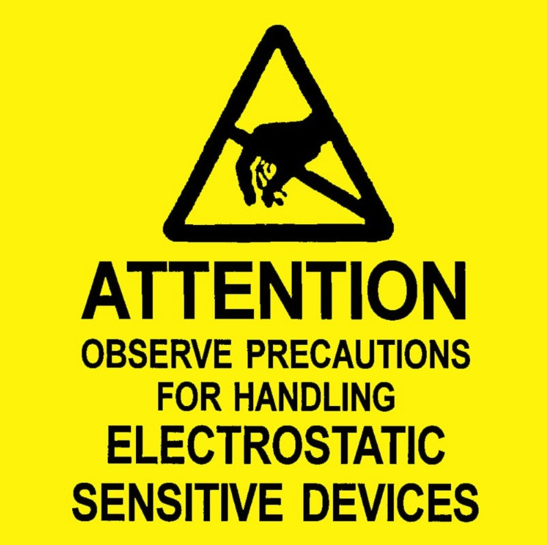 Cleanroom Esd Static Control Supplies Esd Warning Labels